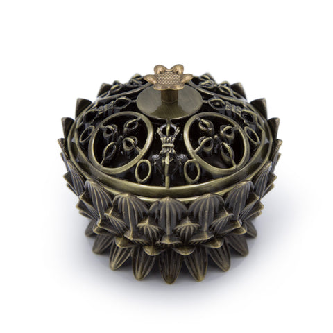 Bronze Lotus Incense Burner
