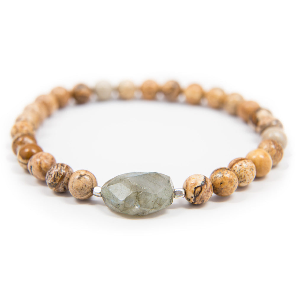 Wood Jasper Prostration Mala - 8mm