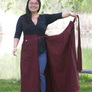 Wraparound Burgundy Chuba Skirt