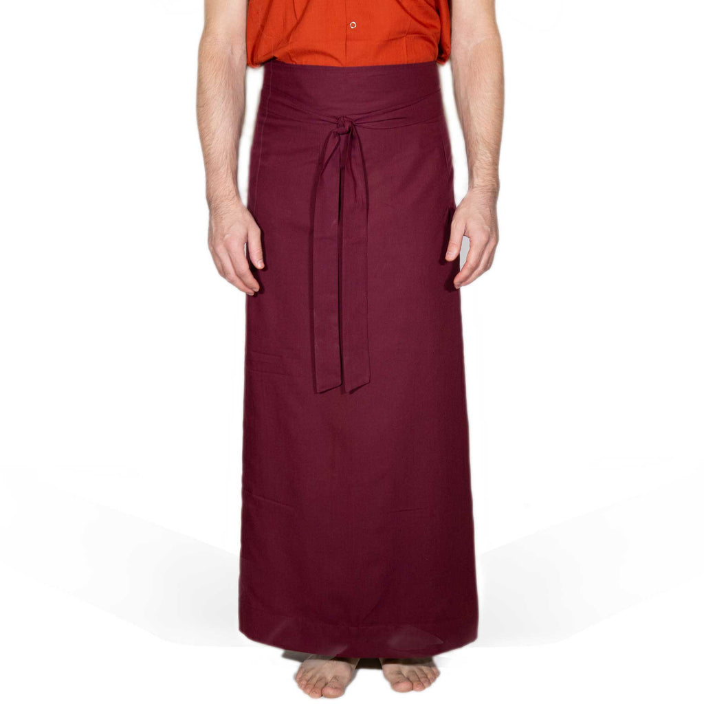 Wraparound Chuba Skirt Lightweight - Burgundy