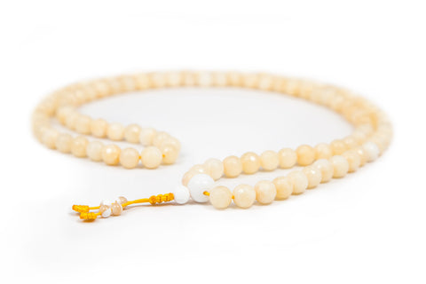 Yellow Jade Mala - 8mm