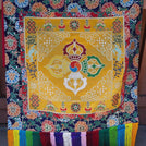 Yellow Throne Cover Set of 4 Pema Chandan Brocade