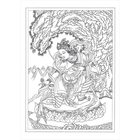 Yeshe Tsogyal Greeting Card