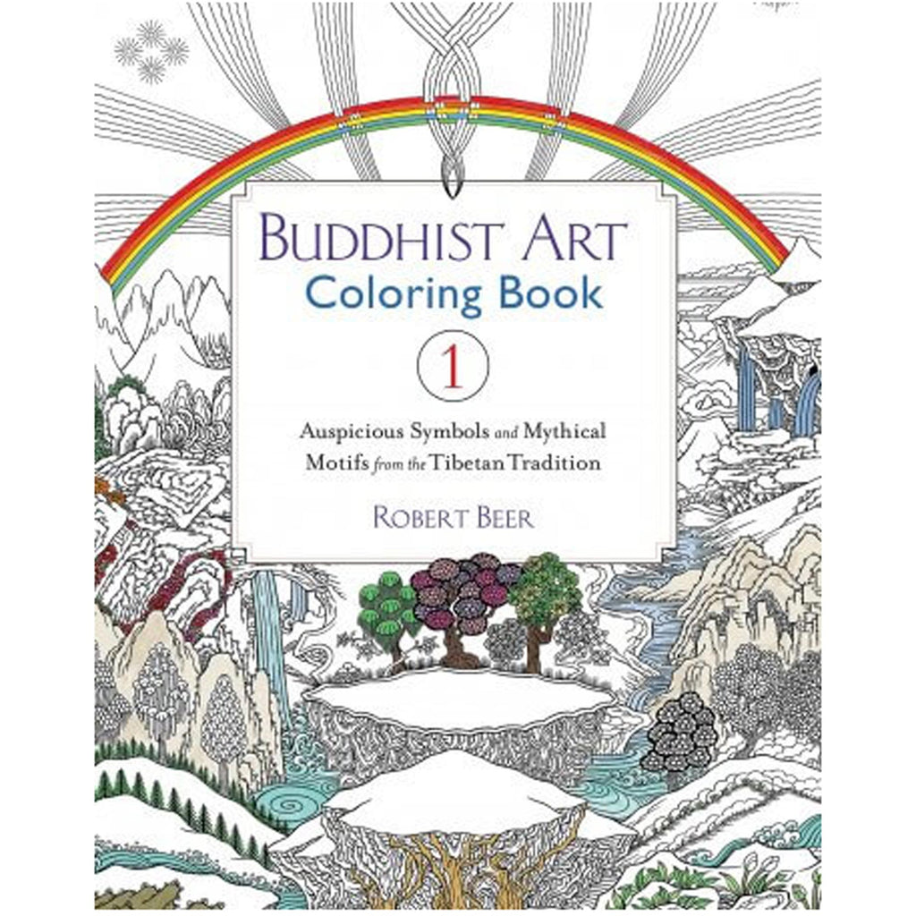 Buddhist Art Coloring Book - 1