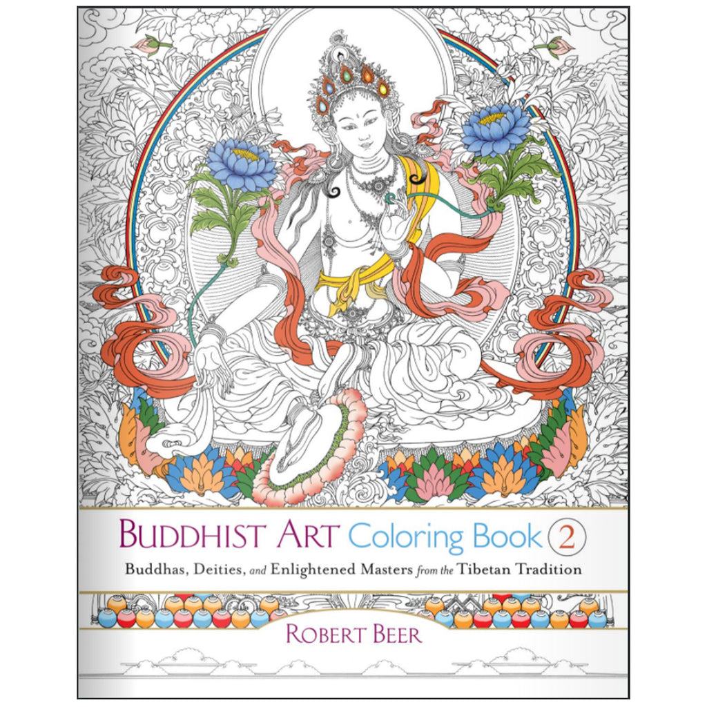Buddhist Art Coloring Book - 2