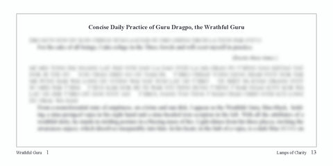 Concise Guru Dragpo Text