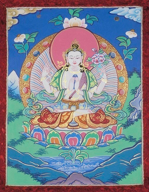 Chenrezig Thangka - Mini
