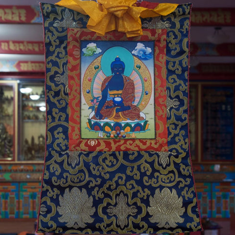 Medicine Buddha Thangka - Mini