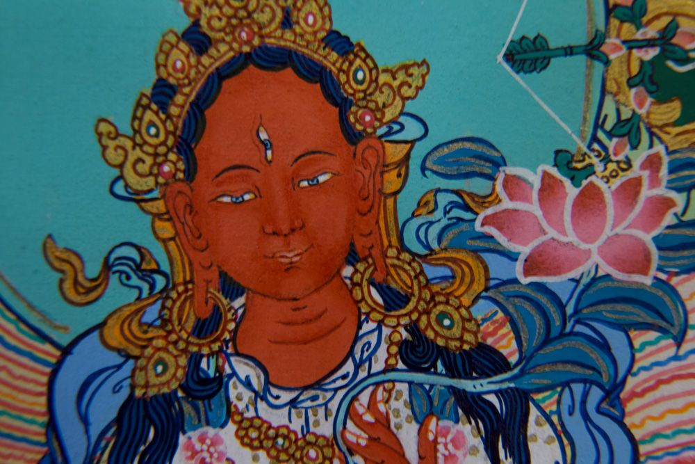 Red Tara Thangka - Mini