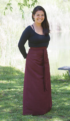 Step-In Burgundy Meditation Skirt