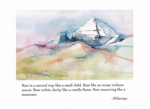 Unmoving Mountain Greeting Card