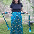 Light Turquoise Medallions Skirt