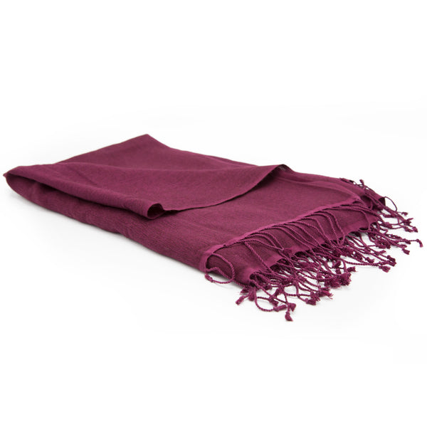 Wine Pashmina Zen - Small