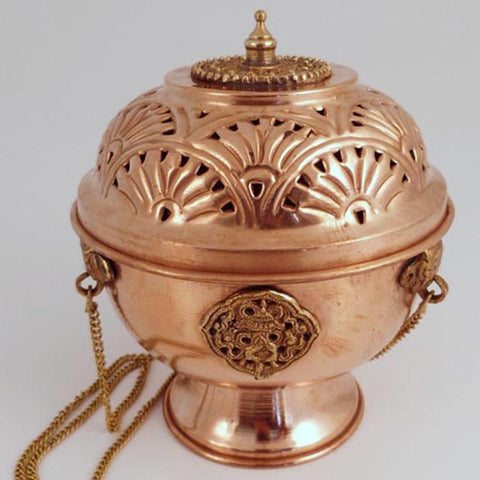 Copper Hanging Incense Burner - 5.5 inch - Imperfect