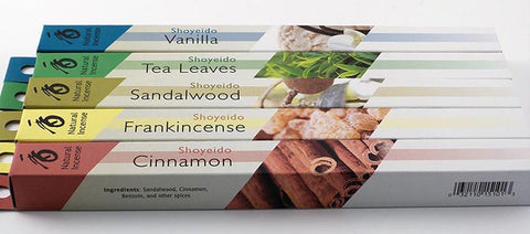 Japanese Incense Set - 5 Boxes