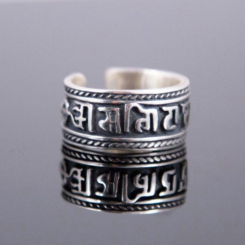 Adjustable Mani Mantra Ring