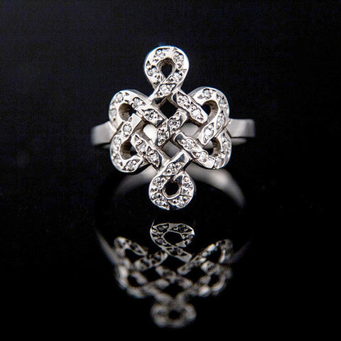 Endless Knot with CZ Ring
