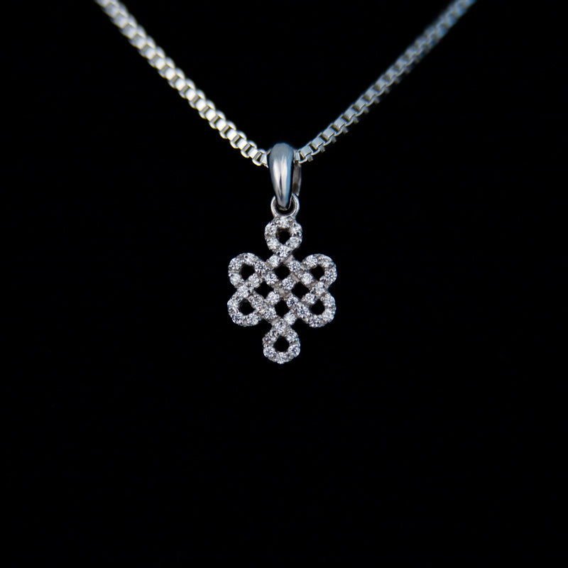 Endless Knot with CZ Earrings