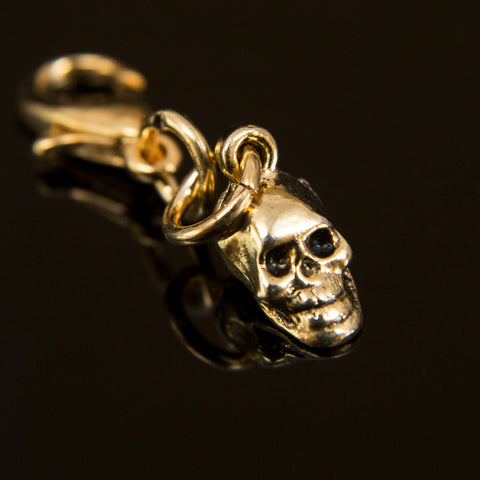 Gold-Plated Antiqued Skull Bhum Counter