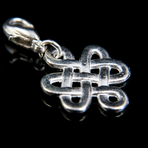 White Metal Endless Knot Bhum Counter