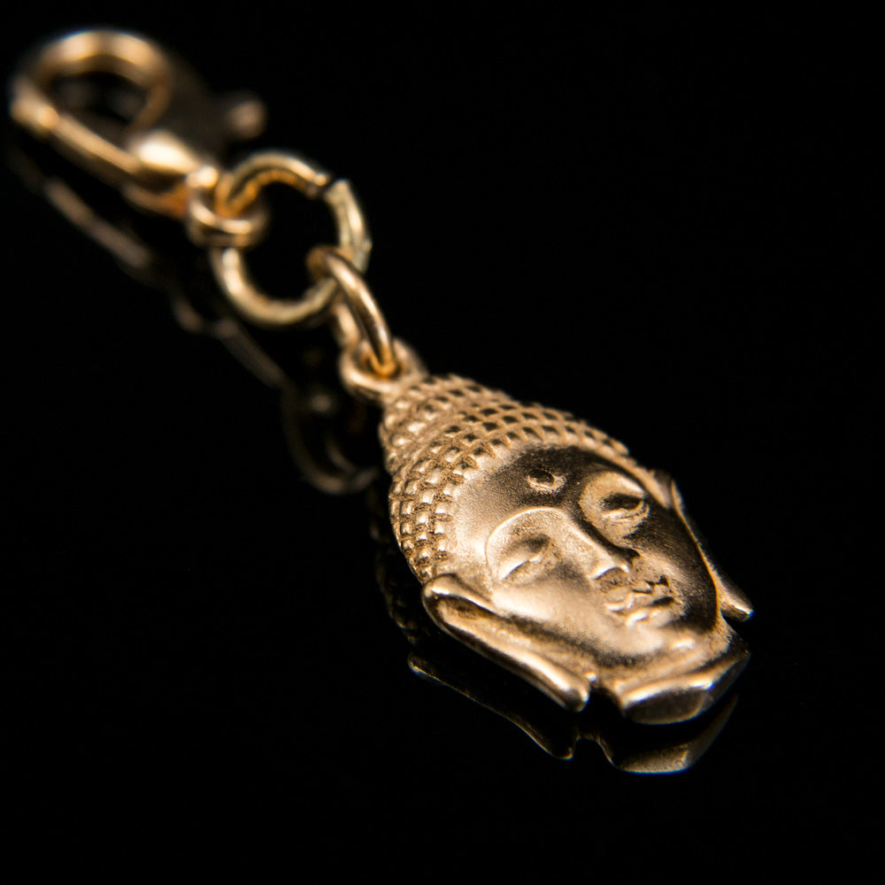 24K Gold Plated Buddha Head Bhum Counter