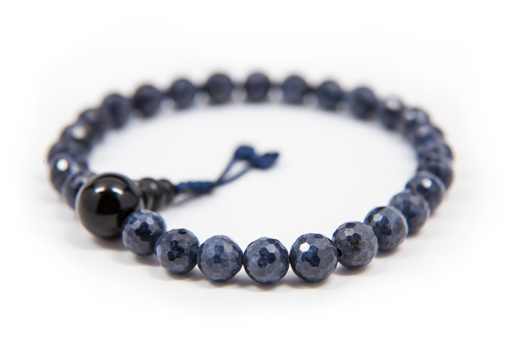 Faceted Sapphire Pocket Mala - 6mm