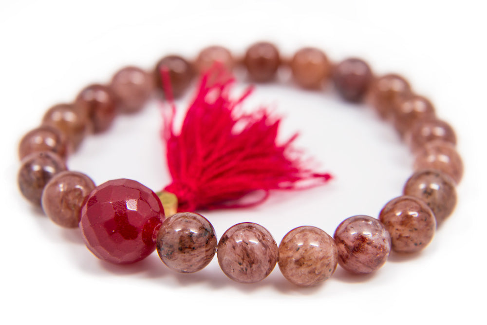 Strawberry Quartz Wrist 8mm