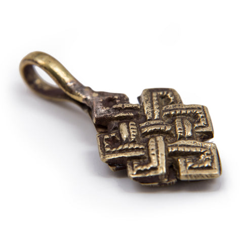 Endless Knot Brass Bhum Counter