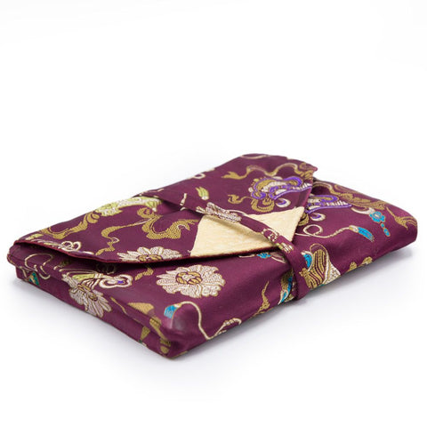 Burgundy Flowers Book Envelope - Small - Clearance