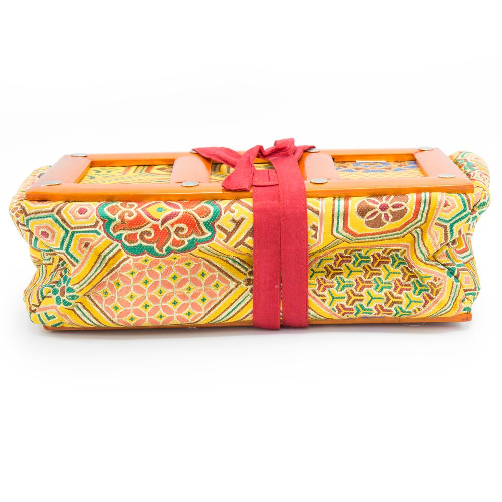 Yellow Khadi Brocade Text Holder - Small - Clearance