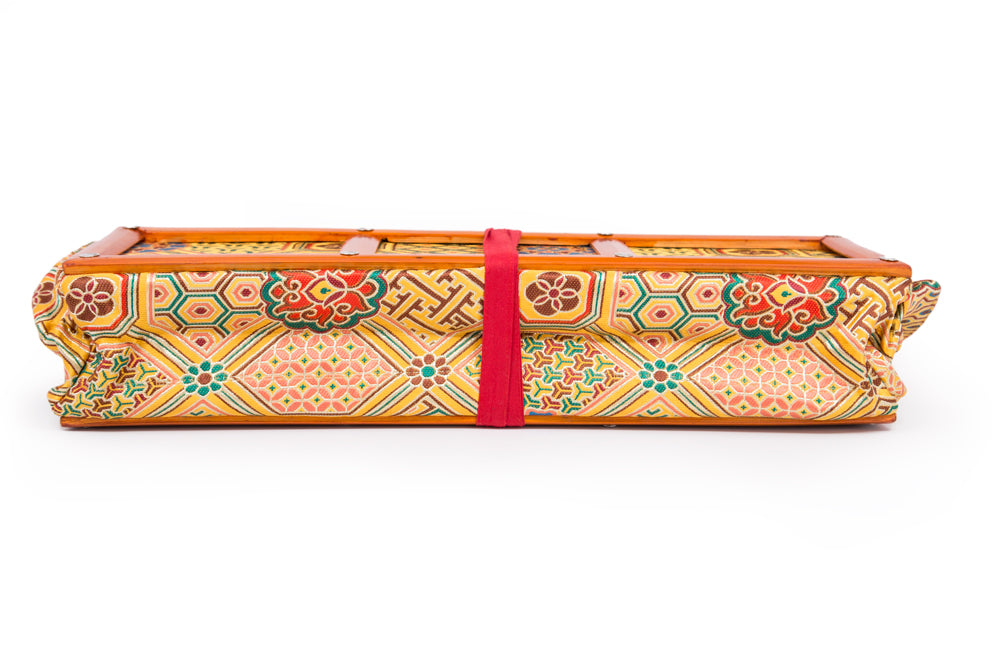 Yellow Khadi Brocade Text Holder - Large - Clearance