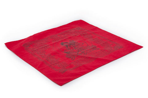 Extra Large Red Tara Jetsun Prayer Flag - Single