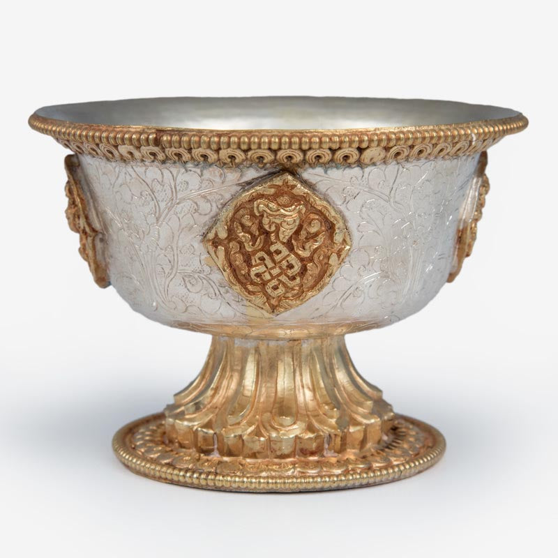 Gold and Silver Offering Bowls - 4 inch - Imperfect
