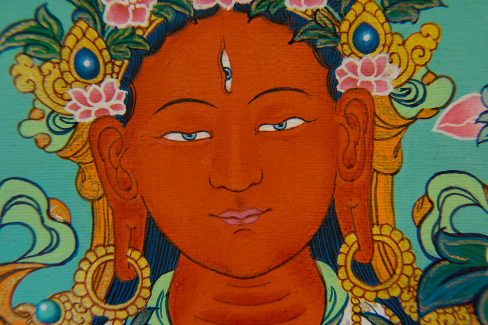Red Tara Specialty Thangka - Medium