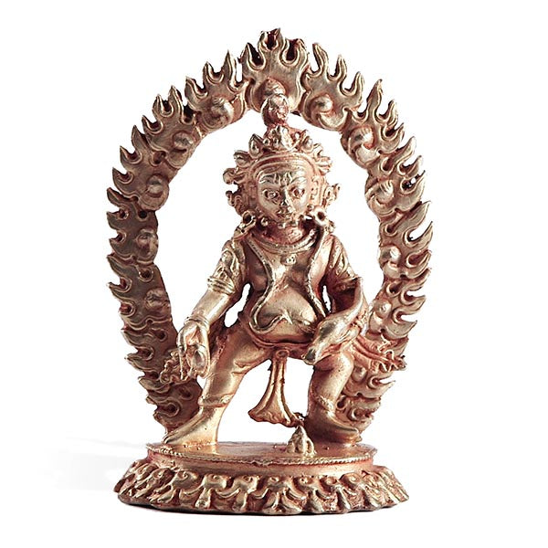 Black Dzambhala Gold Statue - Mini