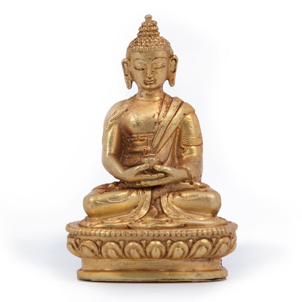 Amitabha Gold Statue - Mini