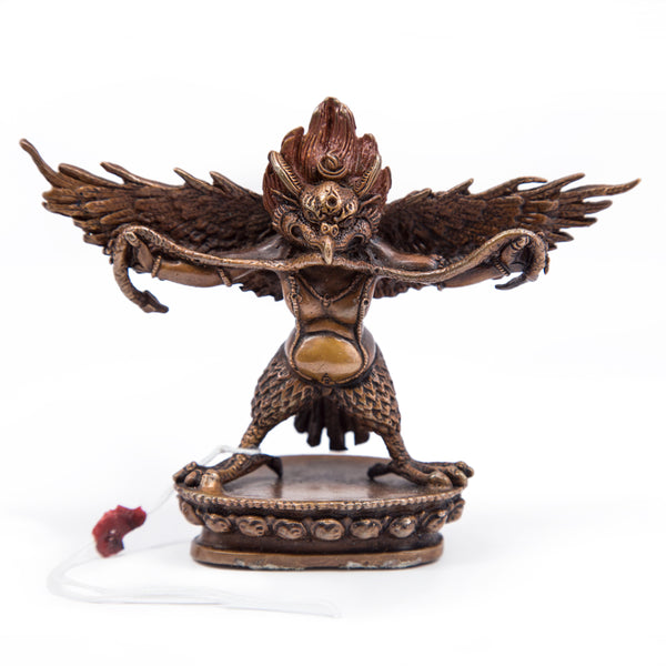 Garuda Oxidized Copper Statue - Small