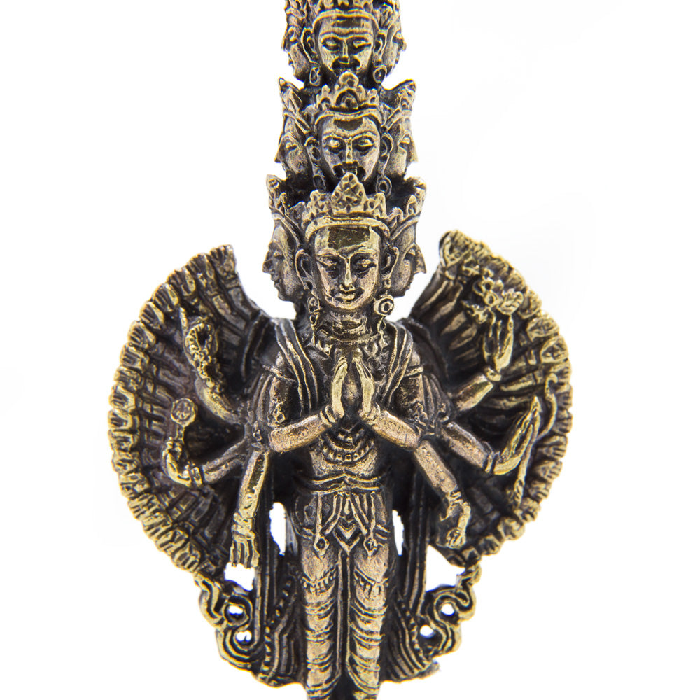 1000-armed Avalokiteshvara Brass Statue - Mini