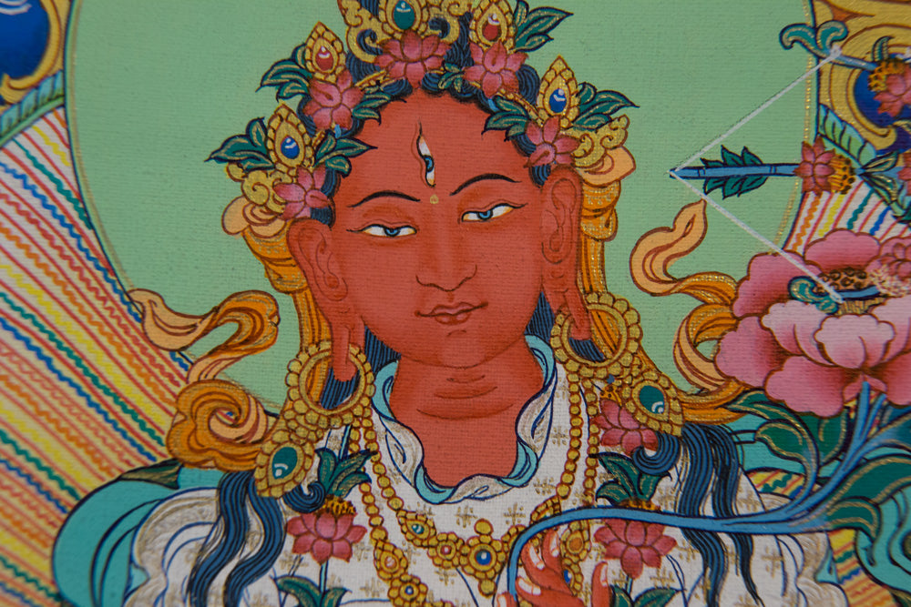 Red Tara Specialty Thangka - Small