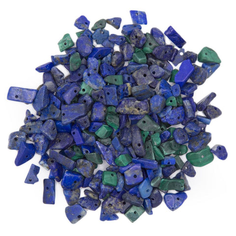 Malachite and Lapis Stone Chips