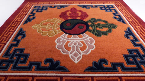 Double Dorje Meditation Carpet