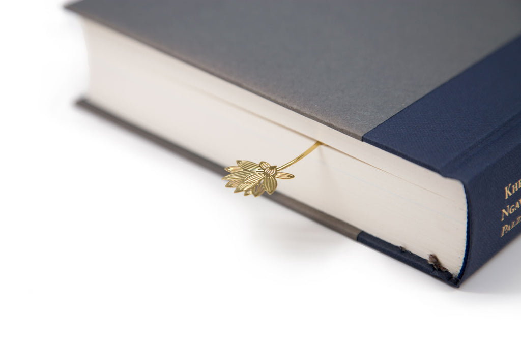 Gold-plated Lotus Flower Bookmark