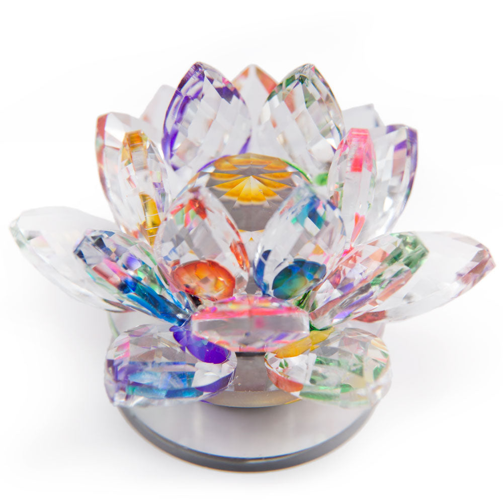 Rainbow Crystal Lotus - 2.5 inch