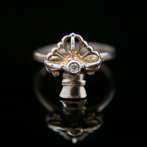 Bell and Dorje with CZ Ring