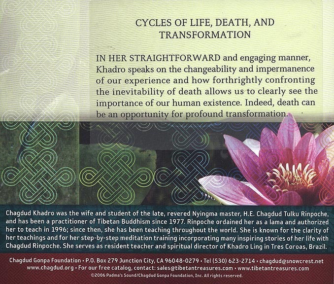Cycles of Life, Death, and Transformation CD