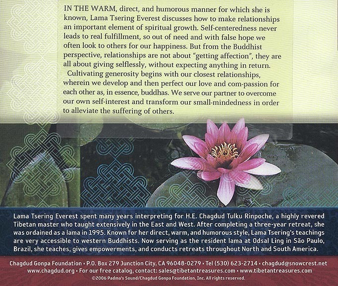 Relationships in Spiritual Life CD