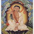 Milarepa in Cave Card