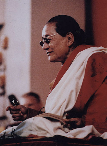 Dudjom Rinpoche with Vajra Photo