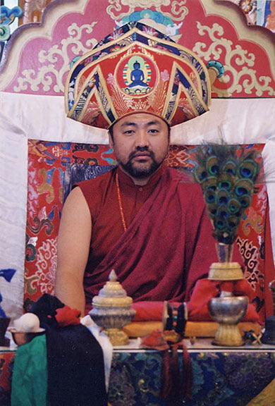 Jigme Rinpoche in Drubchen Hat Photo
