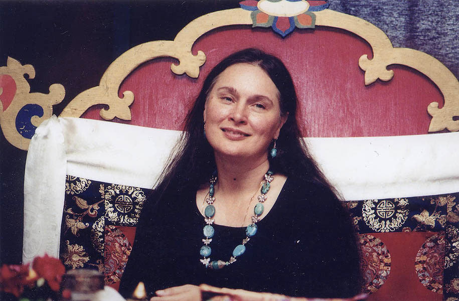 Lama Tsering on Throne Photo